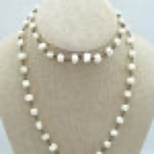 Silpada Sterling Silver Pearl Necklace Retired